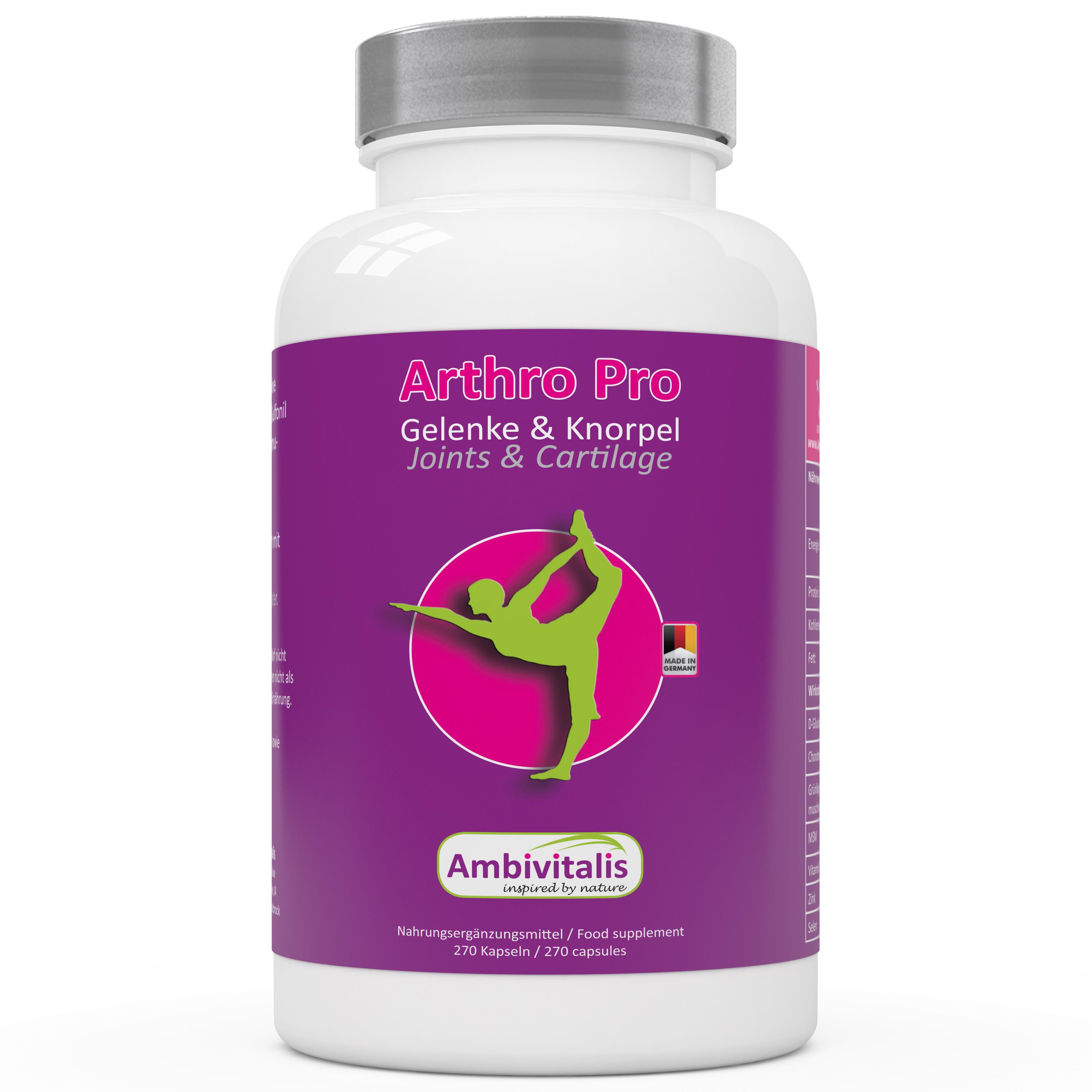 Glucosamin Chondroitin MSM Pulver Gelenkkapseln -01- Ambivitalis hergestellt in Deutschland Amazon online kaufen