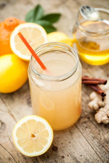 Frischer Ingwer-Tee mit Zitrone - Rezept