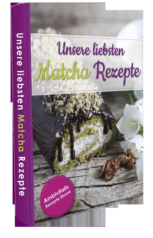"""Als kleines Dankeschön bieten wir unseren Kunden und Lesern unser Ebook """"Unsere liebsten Matcha Rezepte"""" im Wert von 19,95 Euro ab sofort kostenlos zum Download an. In unserem Ebook (48 Seiten) erhalten Sie folgende Rezepte mit Matcha:"""
