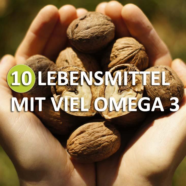 10 Lebensmittel mit viel Omega 3 Fettsäuren