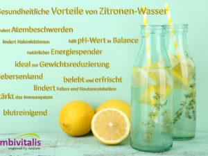 Gesundheitliche Vorteile von Zitronen-Wasser