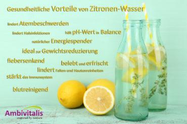 Gesundheitliche Vorteile von Zitronen Wasser