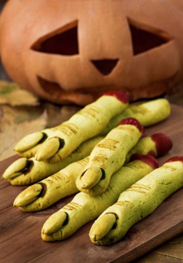 Halloween Gruselfinger Cookies mit Matcha
