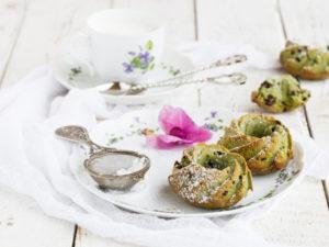 Matcha Muffins mit Schokotröpfchen