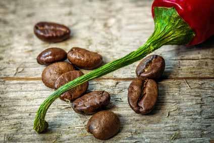 scharfe Kaffeespezialitäten