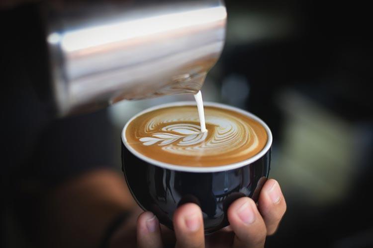 Latte Art Motiv