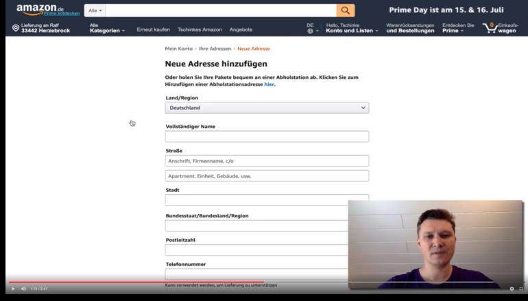 Amazon Rechnungsadresse ändern